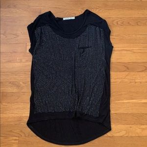 Tops - Nordstrom Jeweled Black Top